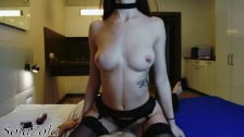 Hottest Escort Girl Getting Fucked in Black Stockings
